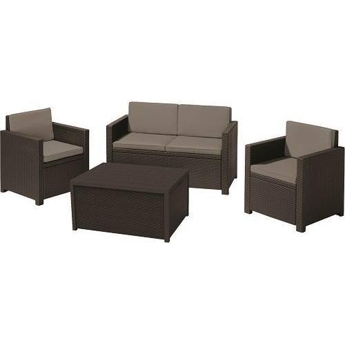 Комплект садових меблів Monaco set, коричневий