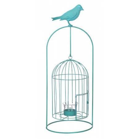 Виріб декоративний у вигляді клітки для пташок, комплект з 4-х шт. синій