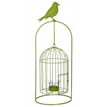 Виріб декоративний у вигляді клітки для пташок, комплект з 4-х шт. зелений