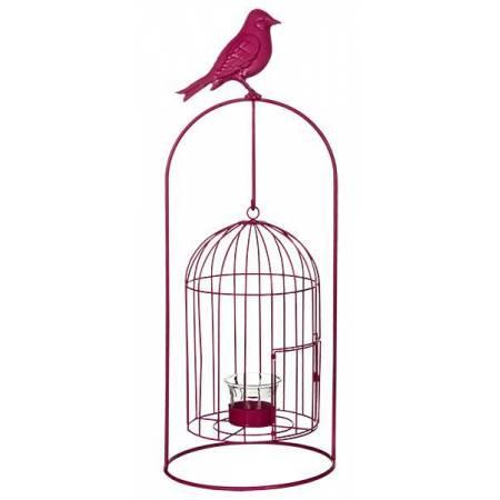 Виріб декоративний у вигляді клітки для пташок, комплект з 4-х шт. рожевий