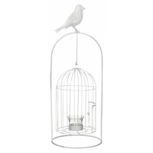 Виріб декоративний у вигляді клітки для пташок, комплект з 4-х шт. білий