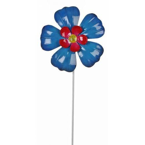 """Фігурка декоративна садова """"Квітка"""", синій"""