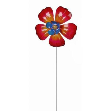 """Фігурка декоративна садова """"Квітка"""", червоний"""
