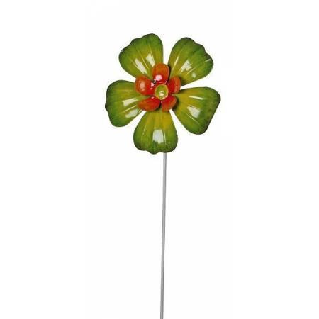 """Фігурка декоративна садова """"Квітка"""", світло-зелена"""