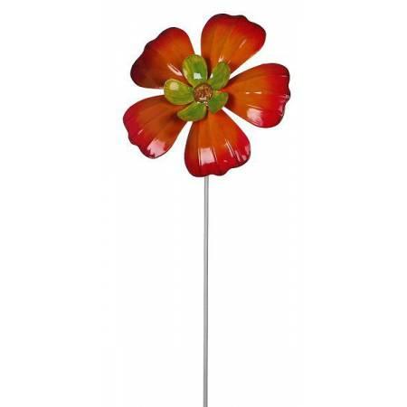 """Фігурка декоративна садова """"Квітка"""", помаранчева"""