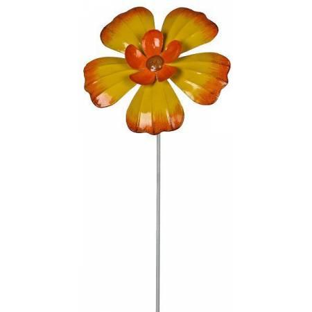 """Фігурка декоративна садова """"Квітка"""", жовта"""