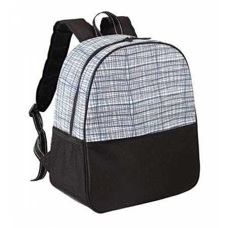 Ізотермічна сумка-рюкзак TE-3025, 25 л, білий принт смужка