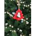 Прикраса декоративна, Ялинка дерев`яна 9*8 см, House of Seasons, колір червоний