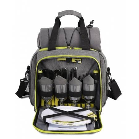 Набір для пікніка TE-420 Picnic, сірий з чорним