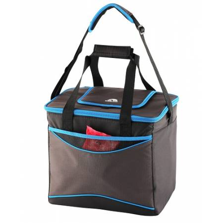 """Ізотермічна сумка """"Collapse & Cool, Sport 36"""", 22 л, чорна з голубим"""