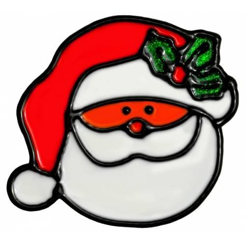 """Наклейка новорічна для вікон, діам. 10 см в ас. """"House of Seasons"""" Санта"""