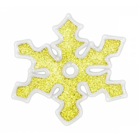 """Наклейка новорічна для вікон Сніжинки діам. 10 см, в ас-ті """"House of Seasons"""", колір золотий"""