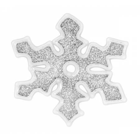 """Наклейка новорічна для вікон Сніжинки діам. 10 см, в ас-ті """"House of Seasons"""", колір сірий"""