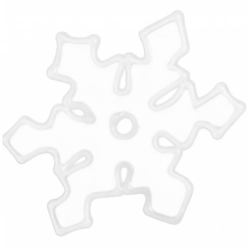 """Наклейка новорічна для вікон Сніжинки діам. 10 см, в ас-ті """"House of Seasons"""", колір білий"""