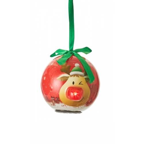 Прикраса декоративна Куля LED 8 см, House of Seasons в ас., червоний