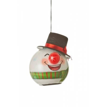 Прикраса декоративна Куля LED Сніговик 6,5 см, House of Seasons в ас., зелений