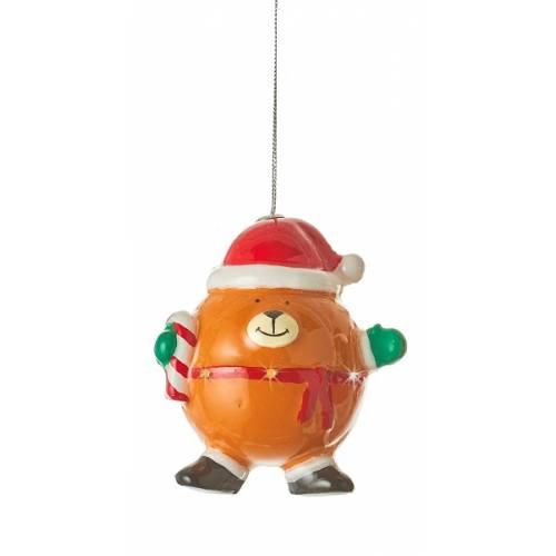 Прикраса декоративна Куля LED, 11 см, Ведмедик, House of Seasons