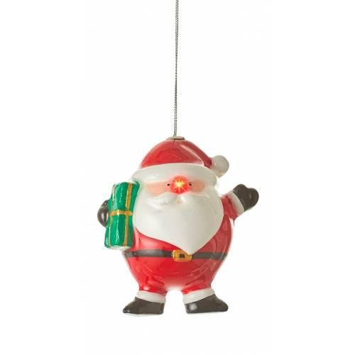 Прикраса декоративна Куля LED, 11 см, Санта, House of Seasons