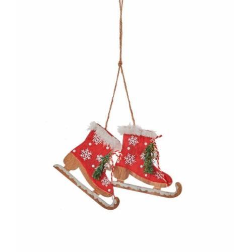 Прикраса декоративна Ковзани червоні 8 см, House of Seasons