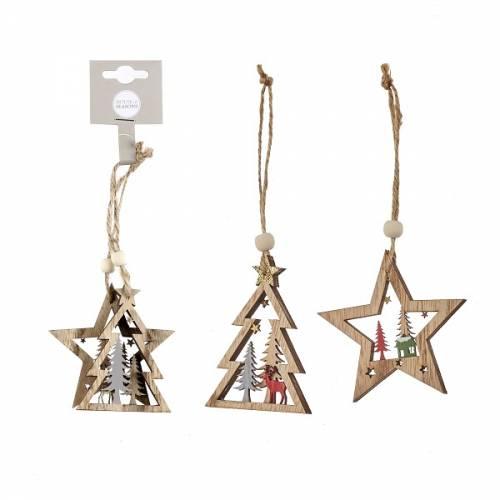 Прикраса декоративна, 7,5 см, Підвісна ялинка і зірка, House of Seasons