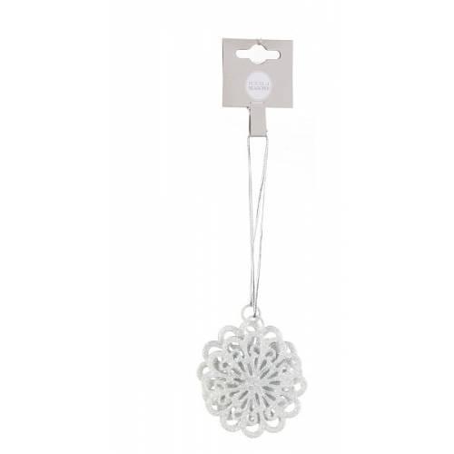 Прикраса декоративна, 6*6 см, Сніжинки білі компл. 2 шт., House of Seasons