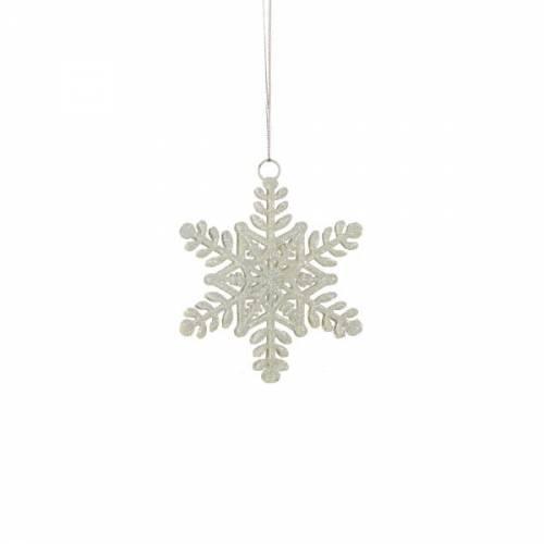 Прикраса декоративна Сніжинка біла 10 см, House of Seasons