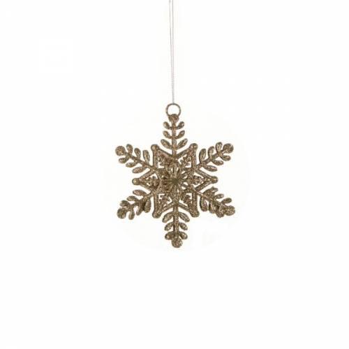 Прикраса декоративна Сніжинка шампань 10 см, House of Seasons
