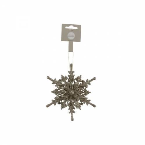 Прикраса декоративна Сніжинка біла 4,5*12,5 см, House of Seasons