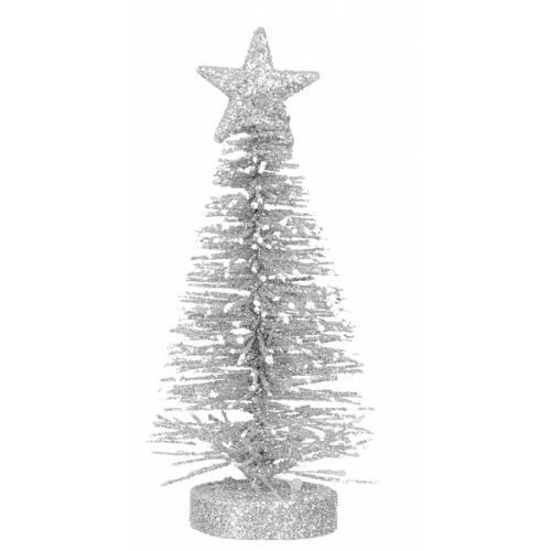 Прикраса декоративна Ялинка в асорт. 12 см, House of Seasons, колірй сріблястий