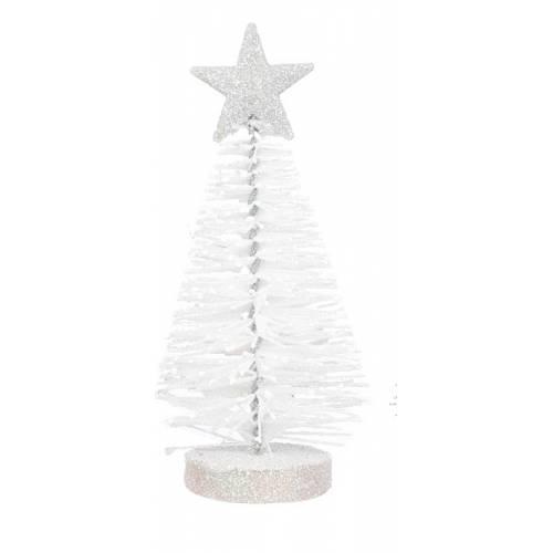 Украшение декоративное Елка в асс. 12 см, House of Seasons, цвет белый