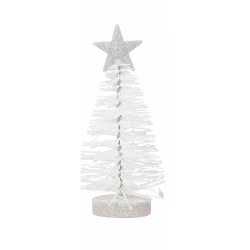 Прикраса декоративна Ялинка в асорт. 12 см, House of Seasons, колір білий 8718861620580WHITE