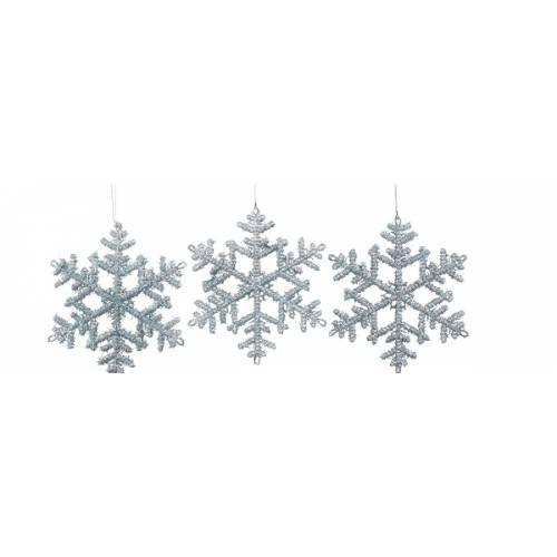 Прикраса декоративна Сніжинки набір 3 шт., колір в асорт. 6 см, House of Seasons