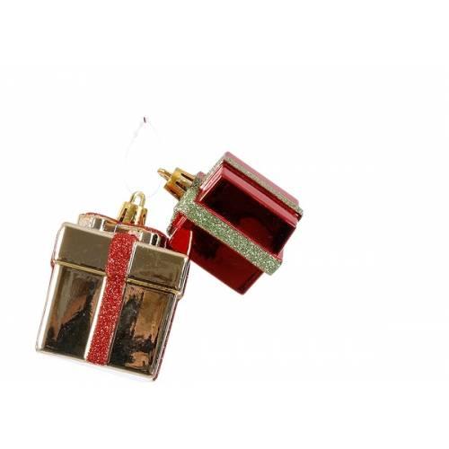 Прикраса декоративна Новорічна, Подарунок, компл. 2 шт., в асорт. 6,5 см, House of Seasons
