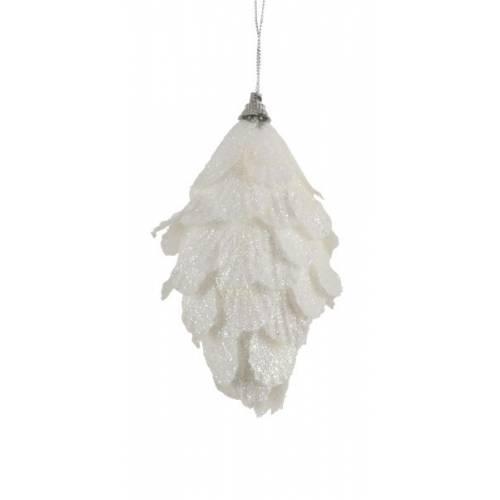 Прикраса декоративна Перо біле, 6 см, House of Seasons