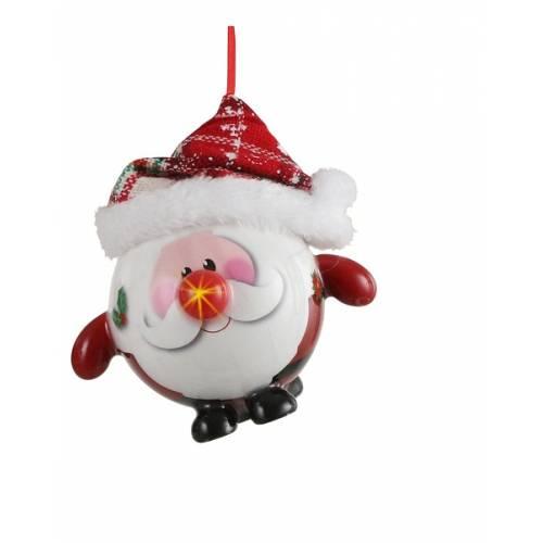 Прикраса декоративна Куля Новорічна LED, 8 см, House of Seasons, Санта