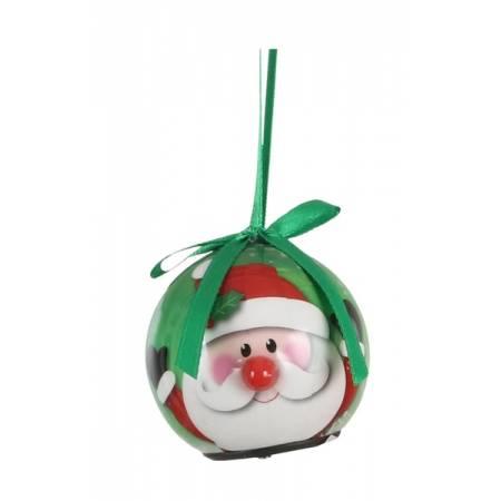 Прикраса декоративна Куля Новорічна LED, 5 см, House of Seasons в ас., зелена
