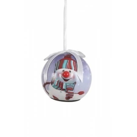 Прикраса декоративна Куля Новорічна LED, 5 см, House of Seasons в ас., бузковий