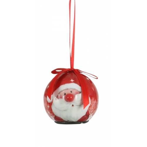 Прикраса декоративна Куля Новорічна LED, 5 см, House of Seasons в ас., червоний