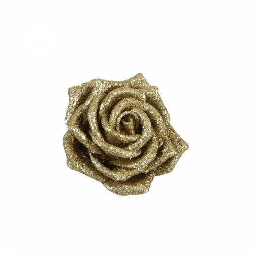 Прикраса декоративна кліпса, Троянда золота 6*8 см, House of Seasons