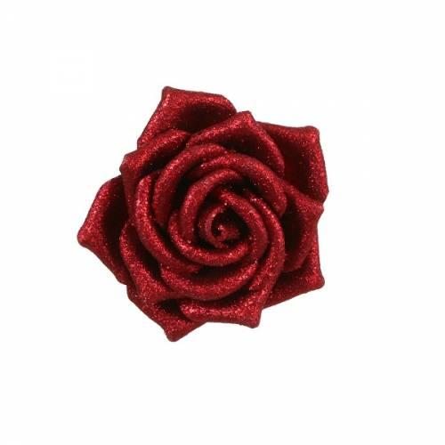 Прикраса декоративна кліпса, Троянда червона 6*8 см, House of Seasons