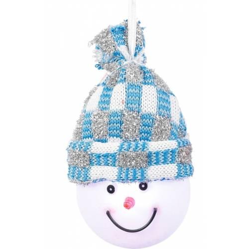 """Декоративна фігурка """"Сніговик"""", діам.7,5 см., """"Luca Lighting"""", блакитна"""