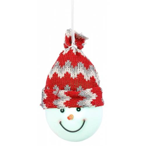 """Декоративна фігурка """"Сніговик"""", діам. 7,5 см., """"Luca Lighting"""", червона"""