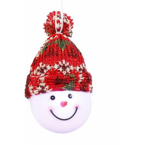 """Декоративна фігурка """"Сніговик"""", діам.7,5 см., """"Luca Lighting"""", червона, зелена"""