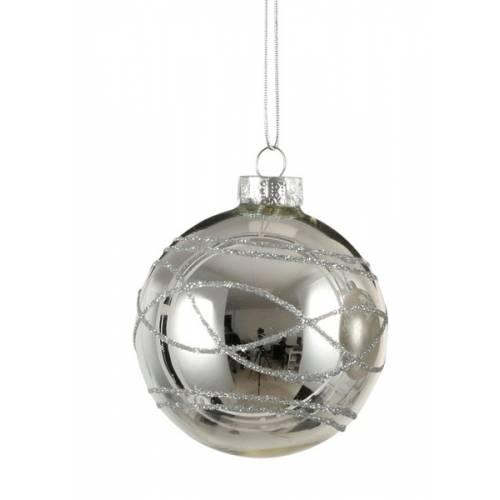 """Елочные стекляные шарики Орнамент, в асс., Ø 7 см., """"House of Seasons"""", глян."""