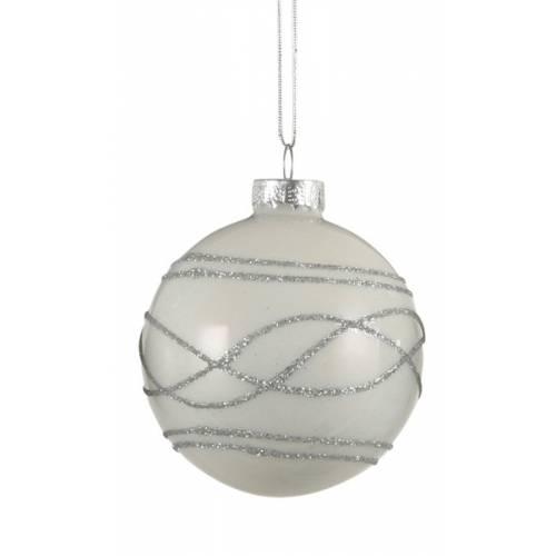 """Ялинкові скляні кульки Орнамент, в ас., Ø 7 см., """"House of Seasons"""", мат."""