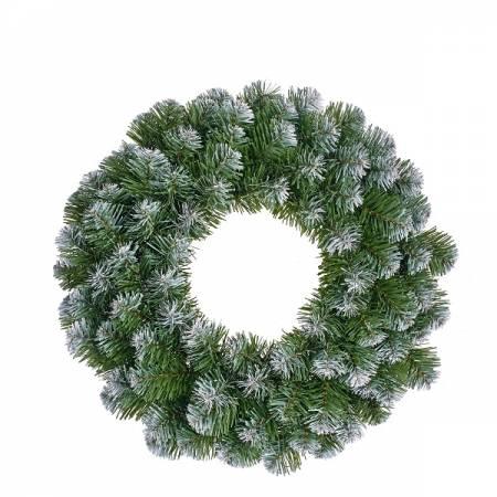 Вінок ø 0,45 см. декоративний Norton зелений з інієм, Black Box Trees