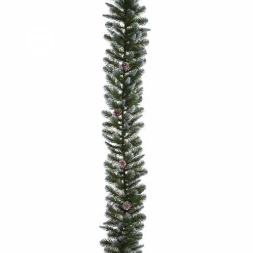 Гірлянда 180 см. декоративна Empress зелена з інеєм і шишками, Triumph Tree