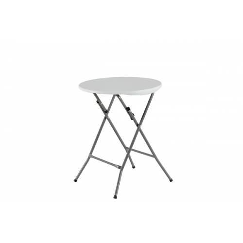 Стіл складаний круглий, 0,6 м., Time Eco ТЕ-1834 білий