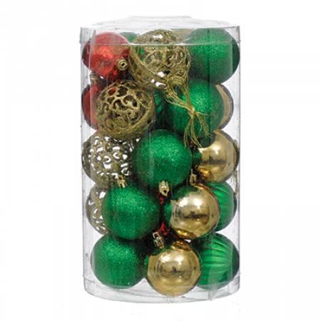Набір пластикових кульок, 25 шт, 6 см, колір мікс