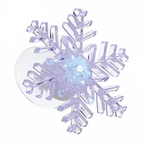 """Прикраса декоративна """"Сніжинка на липучці"""", акрил, 9x9x3 см"""